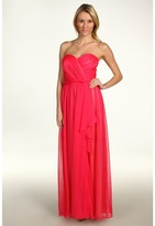Jessica Simpson Strapless Sweetheart Cascade Ruffle Gown (Cabaret Pink) - Apparel