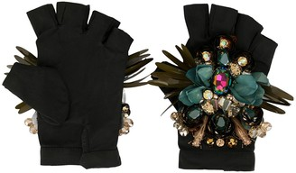 Biyan Embellished Padded Gloves