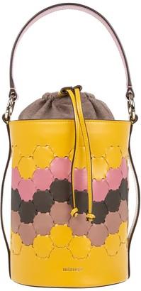 Mianqa Feride Cylinder Woven Bag Yellow