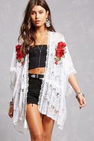 Forever 21 FOREVER 21+ Lace Embroidered Cardigan