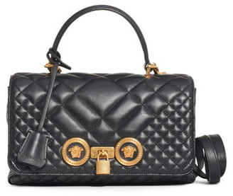 Versace Medium Icon Quilted Leather Top Handle Bag
