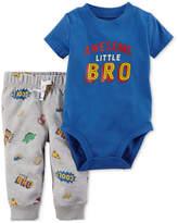 Carter's 2-Pc. Cotton Bodysuit & Pants Set, Baby Boys