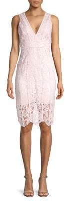Bardot Sleeveless Lace Sheath Dress