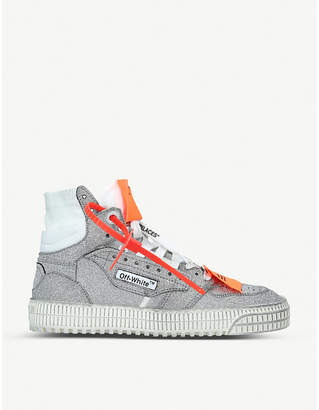 Off-White Off-Court glitter high-top trainers