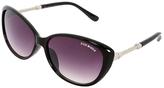 Steve Madden Black & Silvertone Cat-Eye Sunglasses