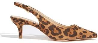 Oasis Womens Animal Slingback Kitten Heels - Animal