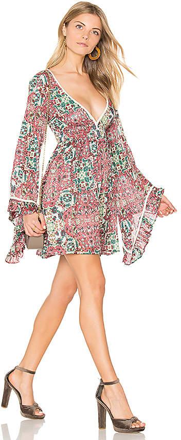 Raga Sunset Rose Bell Sleeve Dress
