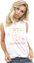The Laundry Room No Mornings Muscle Tee in White