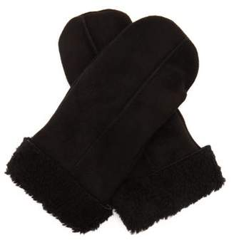Dents Inverness Shearling Mittens - Mens - Black