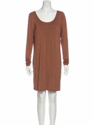 Chloé Scoop Neck Mini Dress Brown