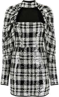 Rotate by Birger Christensen Sequin Check Dress