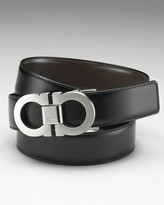 Salvatore Ferragamo Men's Classic Double Gancini Reversible Belt