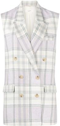 Etoile Isabel Marant Checked Linen Waistcoat