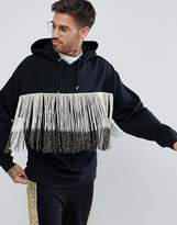 Asos Oversized Hoodie With Gold Fringing