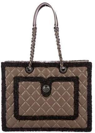 Chanel Tweed Large Secrets Tote