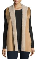 Velvet Royce Shawl-Collar Vest, Camel