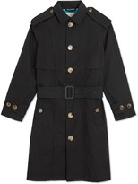 Burberry Piping Detail Tropical Gabardine Trench Coat