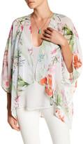 Karen Kane Floral Drape Jacket