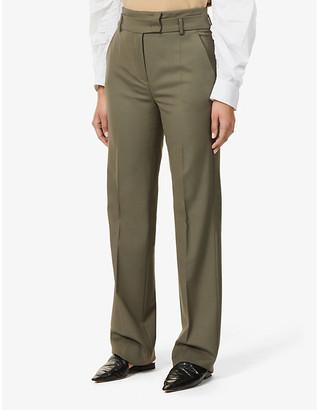 Sportmax Ascoli regular-fit high-rise wool-blend twill trousers