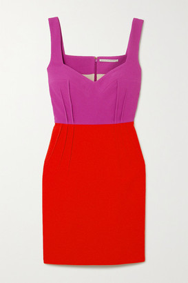 Emilia Wickstead Jude Two-tone Crepe Mini Dress - Magenta