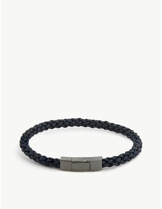 Tateossian Fettuccine leather bracelet