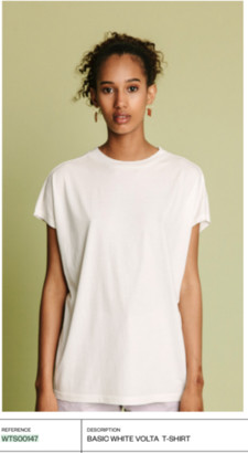 Volta Thinking Mu - White Organic Cotton T Shirt - XS / blanc