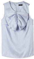 Banana Republic Stripe Pleated-Bow Top