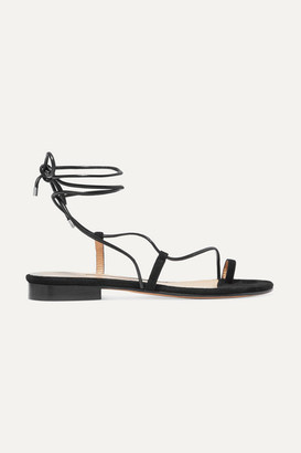 Emme Parsons Susan Suede And Leather Sandals - Black