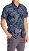 ProjekRaw Projek Raw Short Sleeve Floral Print Woven Modern Fit Shirt