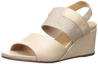 Driver Club USA Womens Leather Made in Brazil Elastic Wedge Sandal