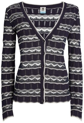 M Missoni Long-Sleeved Stripe Cardigan