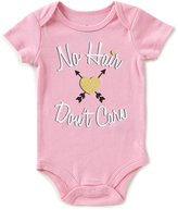 Baby Starters Baby Girls 3-12 Months No Hair Don t Care Short-Sleeve Bodysuit