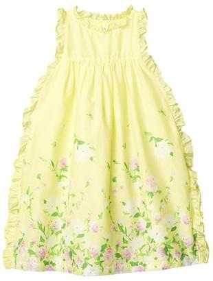 Janie and Jack Ruffle Trim Dress (Toddler/Little Kids/Big Kids) (Yellow) Girl's Clothing