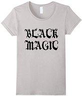 Women's Black Magic T-Shirt Voodoo Satanism Necromancy Occult Tee Large