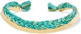 Aurelie Bidermann Gold-plated braided cotton choker