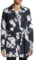 Figue Tie-Dye Safari Jacket, Navy