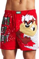 Briefly Stated Men's Looney Toons Taz Let's Get Naughty Boxer