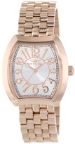 Invicta Women's 15041 Angel Silver Dial 18k Rose Gold Ion-Plated Stainless Steel Watch