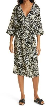 Smythe Cheetah Print Drop Waist Dress