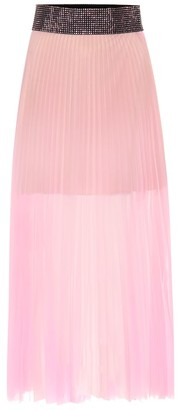 Christopher Kane Embellished pleated skirt