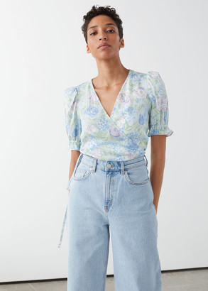 And other stories Puff Sleeve Wrap Blouse