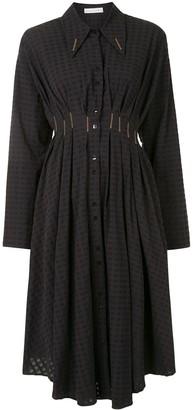 Palmer Harding Escen embroidered midi shirt dress