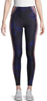 Wear It To Heart Striped Floral Leggings