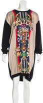 Mary Katrantzou Digital Print Long Sleeve Sweaterdress
