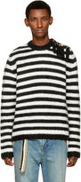 Loewe Black and White Striped Sweater
