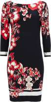 Black Floral Tunic Dress