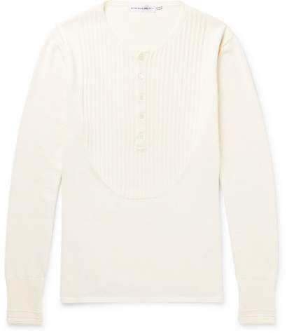 Alexander McQueen Ribbed Silk and Cashmere-Blend Henley Sweater