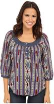 Roper 9903 Printed Cotton Lawn Peasant Blouse