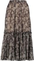 Michael Kors Printed silk-chiffon midi skirt