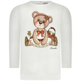 MonnaLisa MonnalisaBaby Girls White Teddy Top